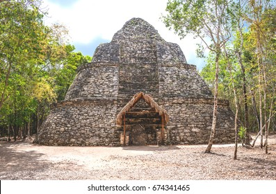 Coba , Mexico, archaeological site, the Xay Be pyramid