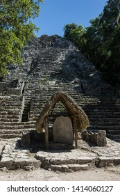 Coba, Quintana Roo, Yucatan peninsula / Mexico - 10.31.2018: pyramud in Coba