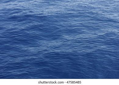 Cobalt blue Mediterranean waves