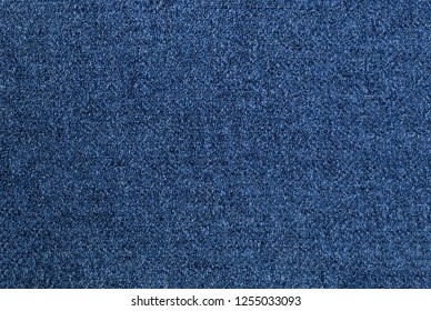 Cobalt blue tweed woven fabric textile background