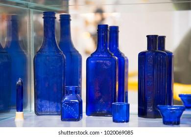 Cobalt glassware also known as SMALT