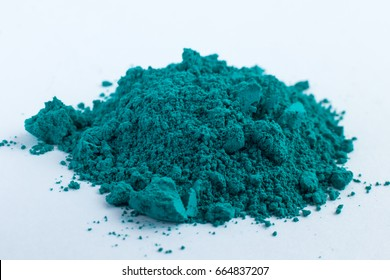 Cobalt Oxide Green pigment on a white background