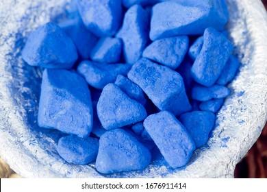 Cobalt stones, display, medina market, Morocco