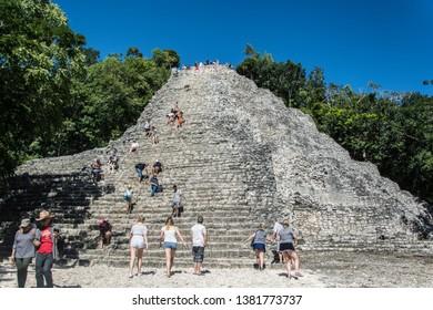 Coba/Mexico; 11 06 2018:  Maya Ruins of Coba in Mexico