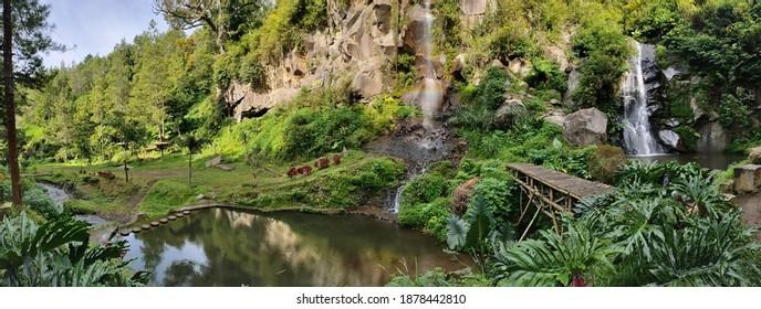 Coban Putri (Putri Waterfall) locate at Malang City, East Java, Indonesia