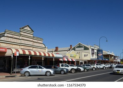 Cobar, New South Wales, Australia. August 2018. A street scene in the town of Cobar, NSW.