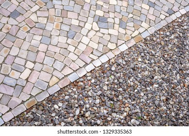 Cobble stone and gravel background