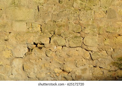 cobble stone wall - warm