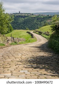 Cobbled road to Hebden Bridge