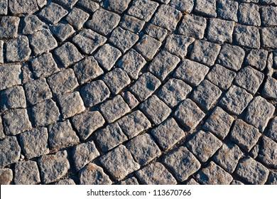 Cobbled roadway texture