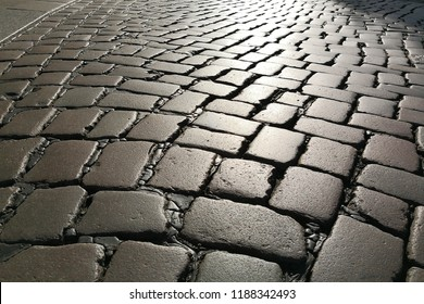 cobbled street background pavement infinity