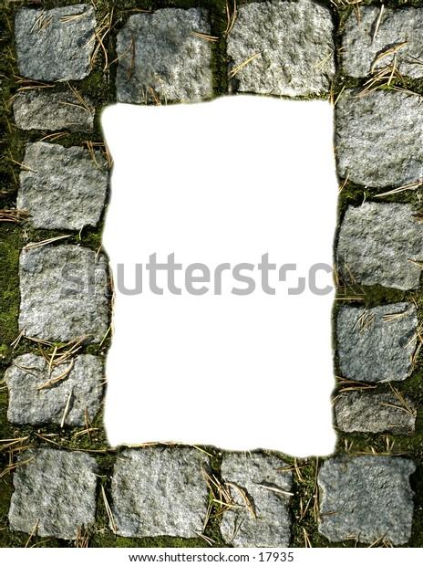 a cobblestone border for a 8 1/2 X 11 page.