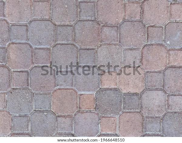 cobblestone driveway or sidewalk walking path vintage garden walkway overhead view