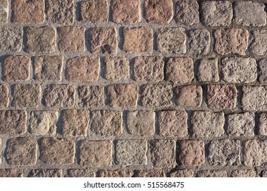 cobblestone pavement for background use