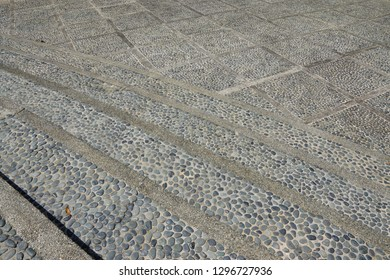 Cobblestone pavements in one of the tourist attraction location in Putrajaya