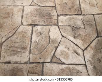 Cobblestone. Paving stones texture, retro style