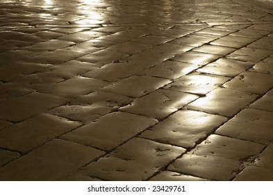 Cobblestone with reflection