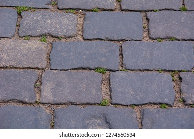 Cobblestone road on red square in Moscow
