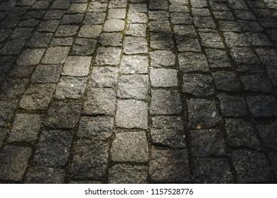 Cobblestone road texture background
