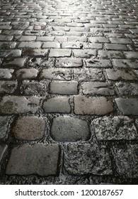 Cobblestone street background pavement infinity