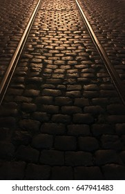 Cobblestone street in Buenos Aires