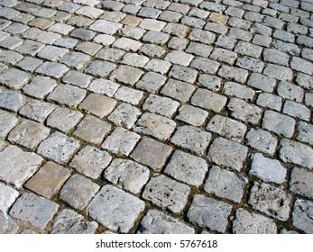Cobblestone street - good for backgrounds