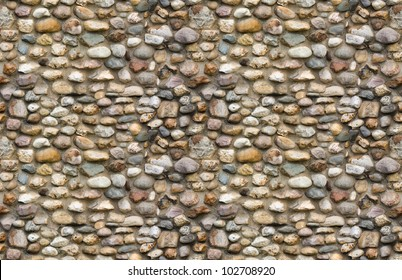 Cobblestone wall seamless background