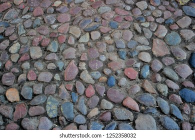 cobblestones on the street of the old town in the European city