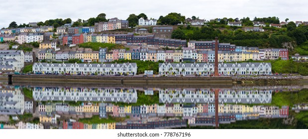 COBH, IRELAND - December 20, 2017: A panoramic view of the town of Cobh near Cork in Ireland.