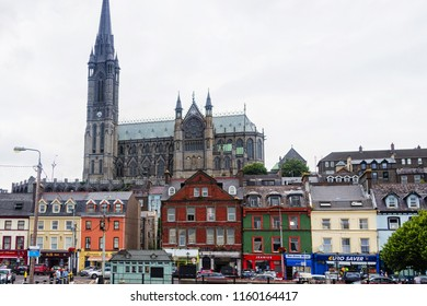 COBH, IRELAND - JULY 12, 2018: Scenic view of a colorful city Cobh in Ireland near Cork.