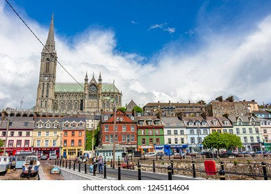 COBH, IRELAND - MAY 22: Photograph from the city of Corb preside