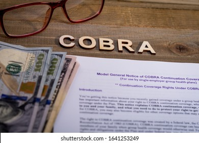 COBRA Healthcare Insurance Benefits for Unemployment concept