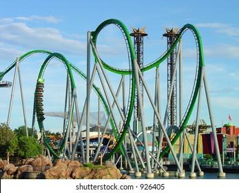 Cobra roll of roller coaster
