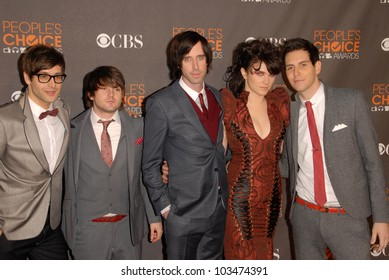 Cobra Starship at the arrivals for the 2010 People's Choice Awards, Nokia Theater L.A. Live, Los Angeles, CA. 01-06-10