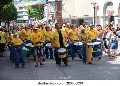 COBURG, GERMANY - JULY 14, 2013: Coburg, Germany: an annual festival of samba in Coburg, Germany.
