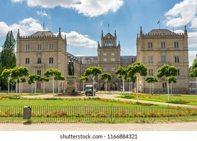 COBURG, GERMANY - JUNE 20: Ehrenburg palace in Coburg, Germany on June 20, 2018.