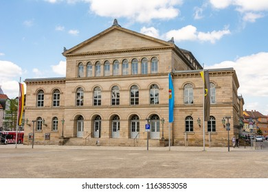 COBURG, GERMANY - JUNE 20: The neoclassical theatre (called Landestheater) of Coburg, Germany on June 20, 2018.