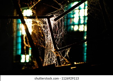 cobweb in the old building