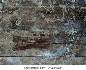 Cobweb or spiderweb on old wooden texture background wall in ancient house. Old grunge spiderweb weathered dusty wall & cobweb. Spiderweb spooky, scary, horror wooden background. Cobweb or spider web