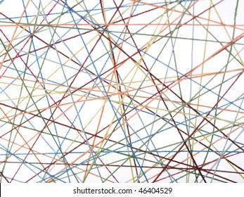 Cobweb from threads