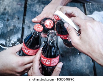 Coca Cola bottle Thailand, 5 May 2018