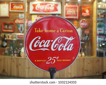Coca Cola collection at museum Baan Bangkhen Bangkok,Thailand February 24, 2018