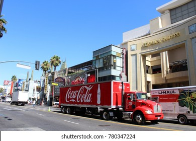 Coca Cola truck in Hollywood USA 20.7.2018