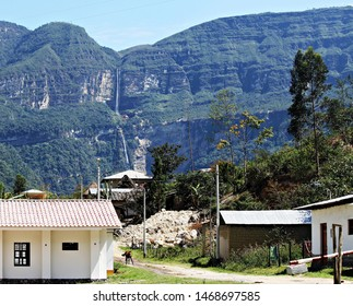 Cocachimba town, start of the walk to Gocta waterfalls
