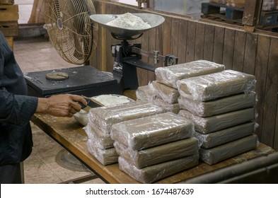 Kokainlager Illegale Drogenproduktion