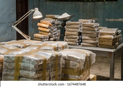 Cocaine warehouse Illegal drug production