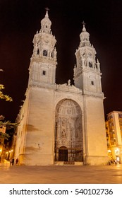 Co-cathedral of Santa Maria de la Redonda in Logrono, La Rioja region, Spain