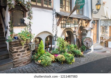 COCHEM, GERMANY, OCTOBER 2018 - Ancient building in the old town of  Cochem, Germany
