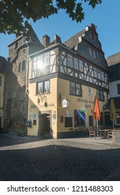 COCHEM, GERMANY, OCTOBER 2018 - Ancient buildings in the old town of  Cochem, Germany