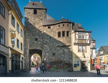 COCHEM, GERMANY, OCTOBER 2018 - City gate in the historic old town of Cochem, Germany